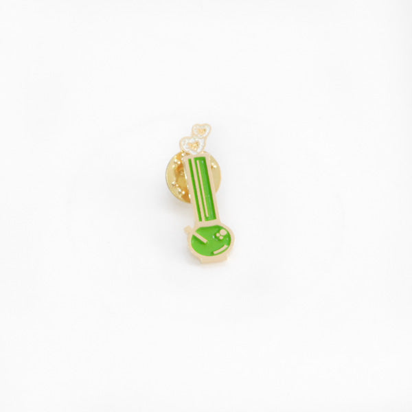 pin minibong verde cross my heart