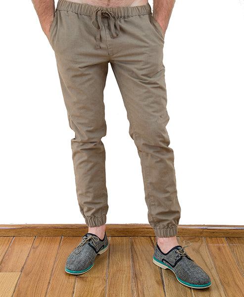 Two Feathers Jogger Pants Khakis