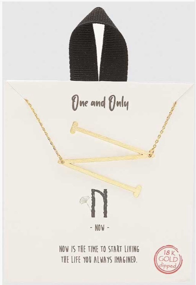 18k Gold Dipped Letter Necklace