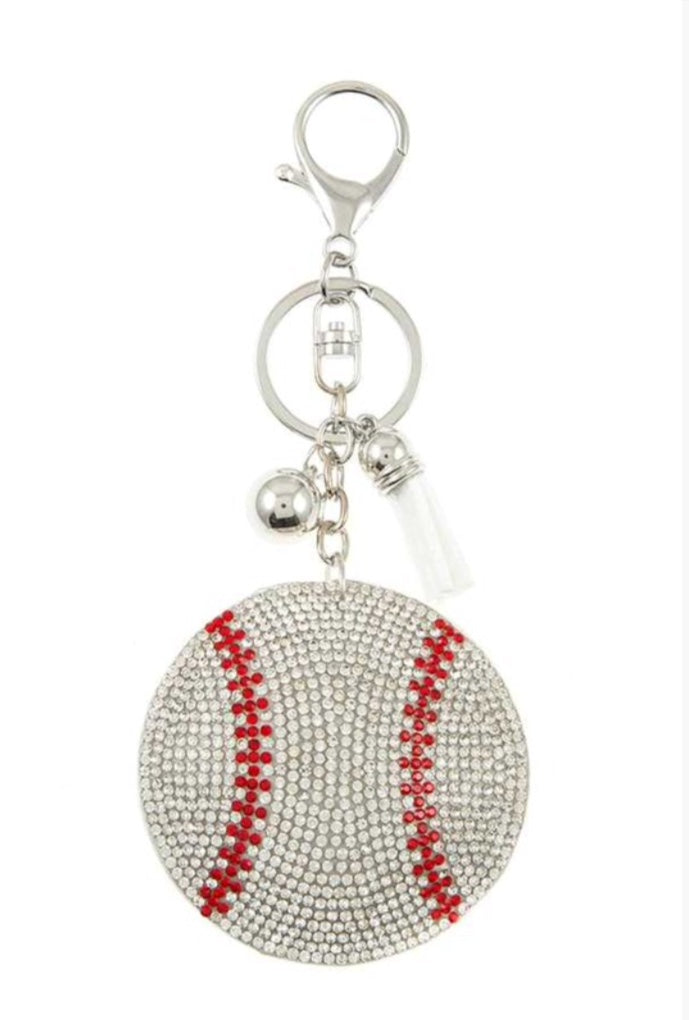 Baseball Keychain/Bag Tag