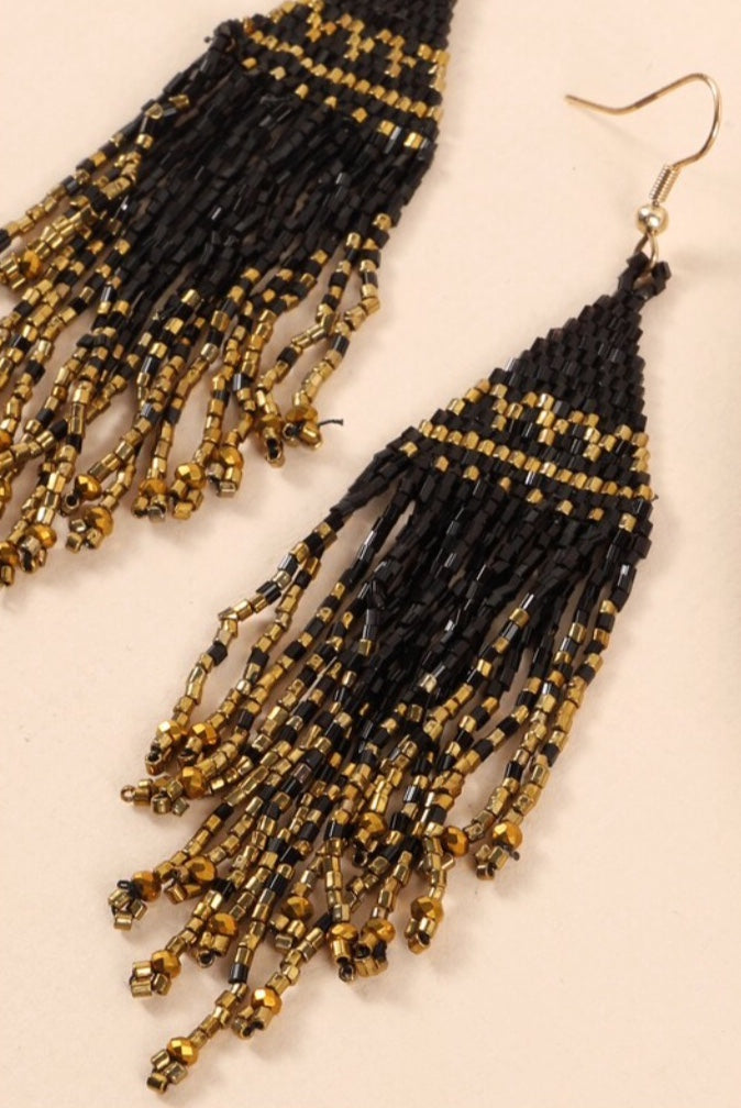 Beaded Beauty Statement Earrings