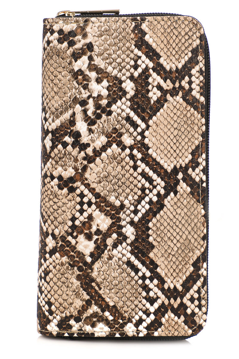 Brown Snakeskin Wallet