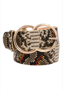 Mixed Snakeskin Belt