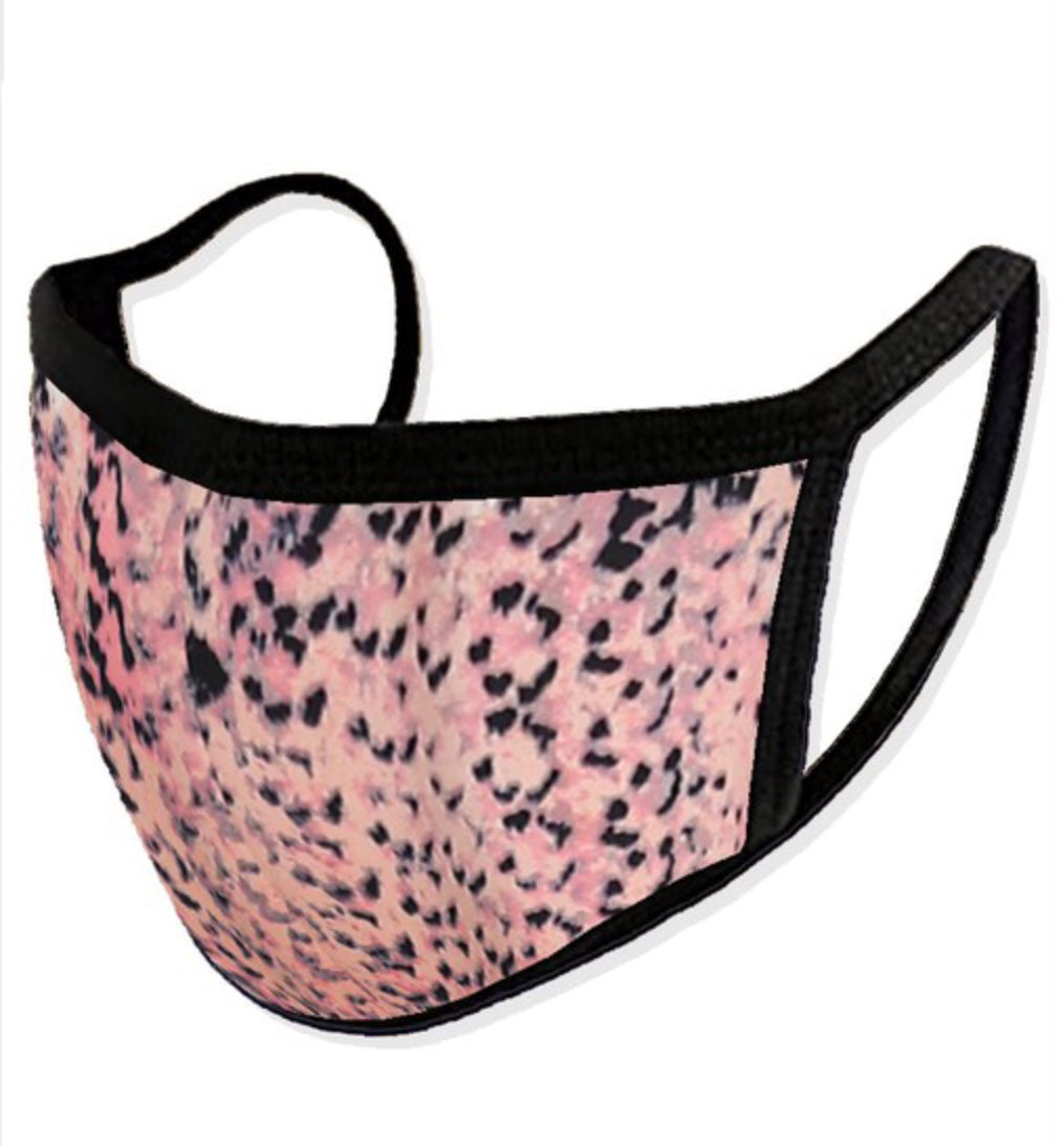 Coral Mix Print Mask