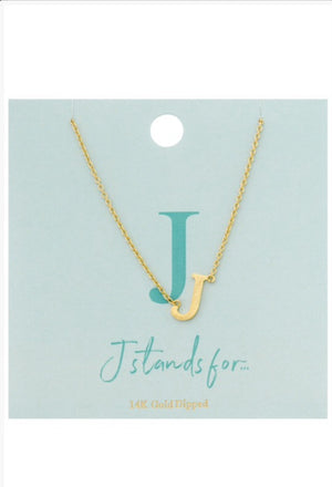 Small Letter Necklace