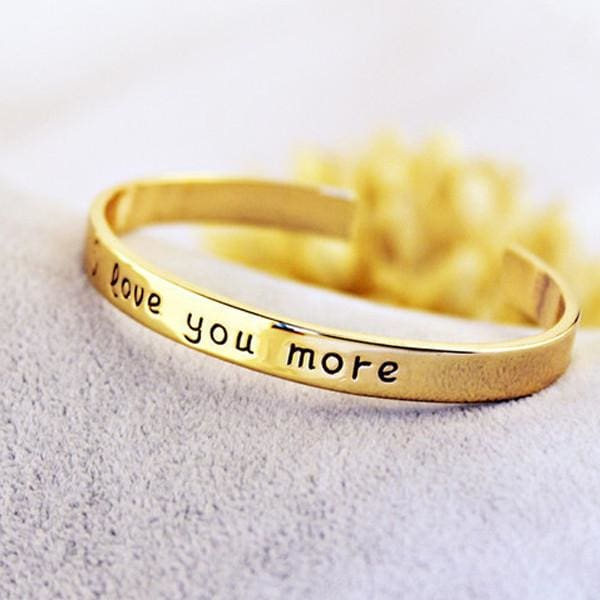 18k Gold Plated - I Love You More Bangle - Yellow Gold - SoTrendify