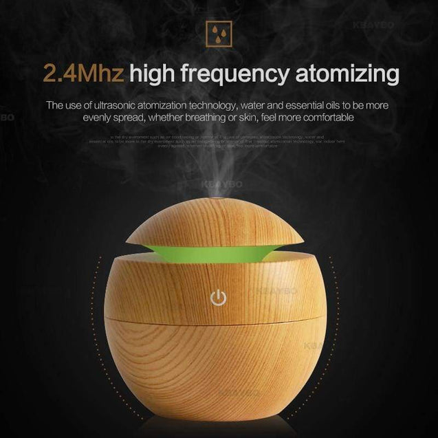 7 LED color options USB Aroma Oil Diffuser - SoTrendify