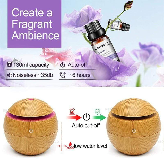 Aroma Essential Oil Diffuser with 7 LED Color - SoTrendify