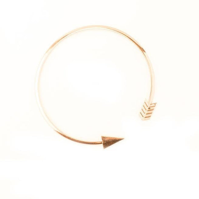 Arrow Feather Chain Choker Necklace - SoTrendify