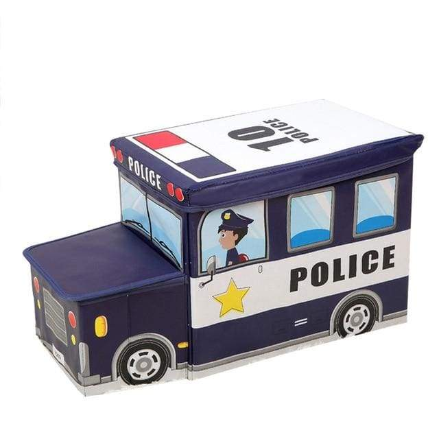 Bus Shape Toys Organizer for Kids - navy headstock - SoTrendify