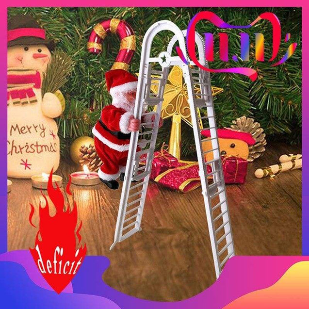 Christmas Electric Ladder Climbing Santa - SoTrendify
