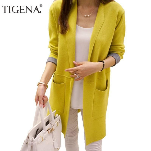 Long Sleeve Cardigan Sweater - SoTrendify