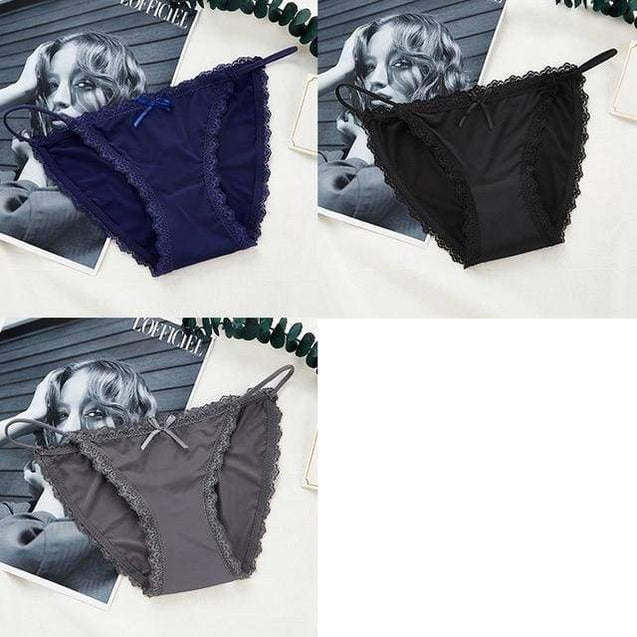 Low-rise Solid Sexy Seamless Underwear - Black Blue Gray / M - SoTrendify