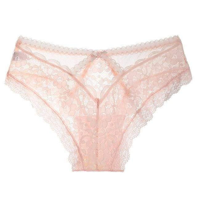 Sexy Panties Transparent Underwear Women Briefs Hollow Out G-String - Pink / L / 3PCS - SoTrendify