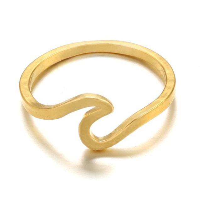 Surf Ocean Wire Ring - Gold - SoTrendify