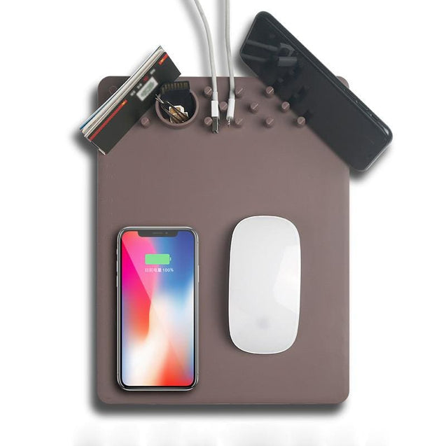 Wireless Mouse Pad Charger with 2 in 1 Mouse Pad With Qi Wireless Charger - SoTrendify