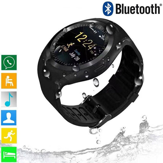 Y1 Smart Watch Women Wearable Devices With Sim Card Bluetooth MenS Watch Business Smartwatch - SoTrendify