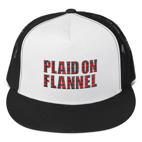 Plaid On Flannel Trucker Hat