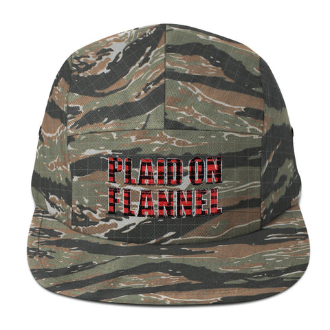 Plaid On Flannel Five Panel Cap