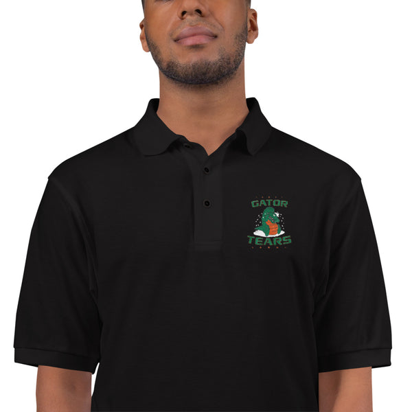 Embroidered Gator Tears Polo Shirt