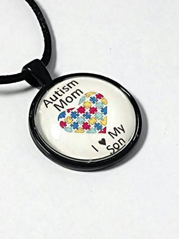 Autism Mom Necklace, Son or Daughter