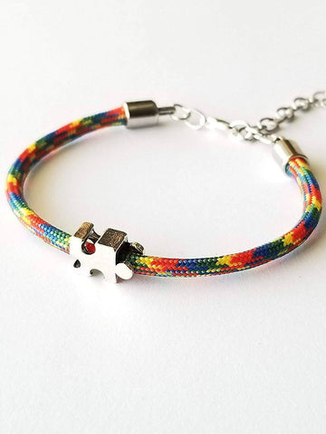 Autism multi colored paracord adjustable bracelet - Laura's Greetings