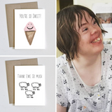 Down Syndrome Awareness Thank You Card Pack (You're So Sweet, Thank Ewe) - Laura's Greetings