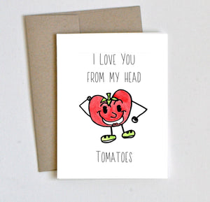 """Tomatoes"" I Love You Card - Laura's Greetings"