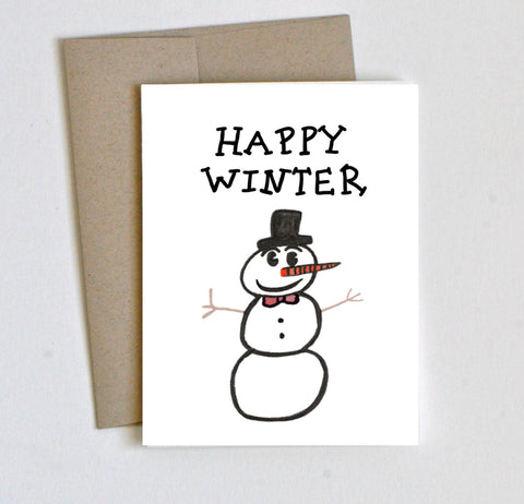 """Happy Winter"" Seasons Greetings Card - Laura's Greetings"