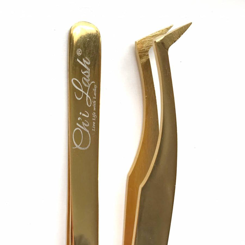 Gold Tweezer Set