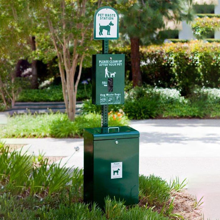 Bark Park Pet Waste Station, memorial, dog memorial, pet memorial, memorial fixture