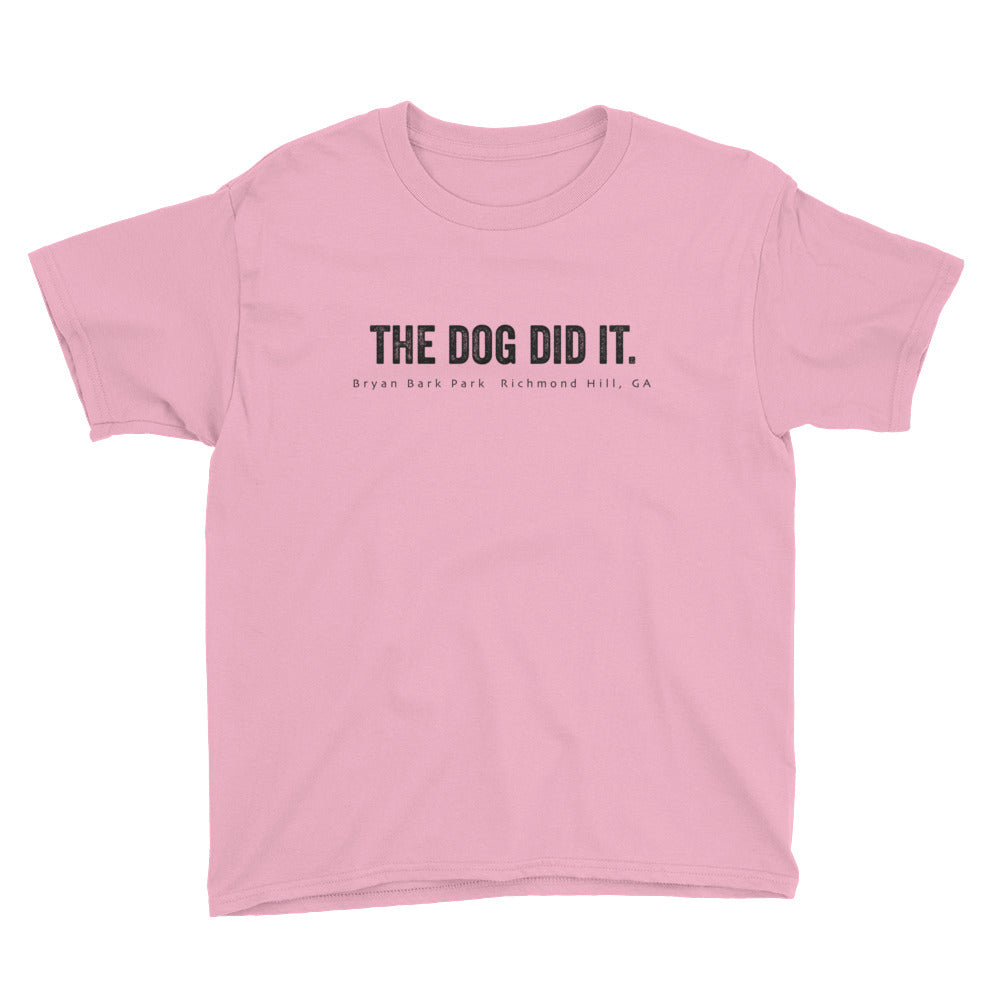 The Dog Did It, The Dog T-shirt, Bark Park T-shirt, Bryan Bark Park, Dog T-Shirt, kids t-shirt dogs