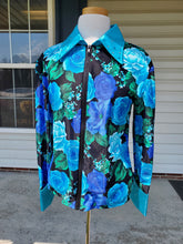 Load image into Gallery viewer, Custom Show Shirt - Blue Floral - Copper Bit Boutique