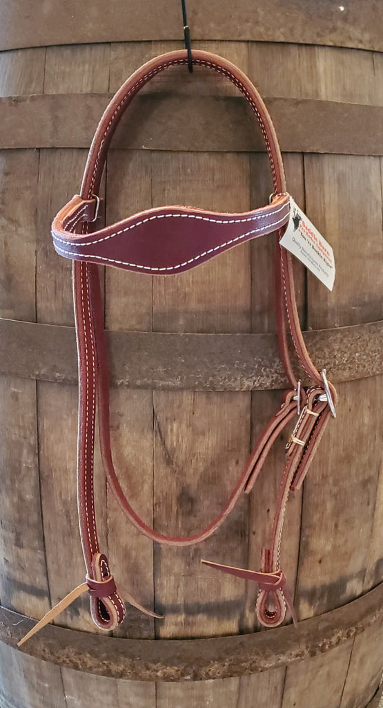 Saddle Barn Premium Fancy Leather Headstall - Latigo Leather - Copper Bit Boutique
