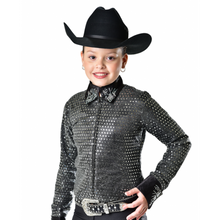 Load image into Gallery viewer, Royal Highness Youth Sequin Show Jacket - Copper Bit Boutique