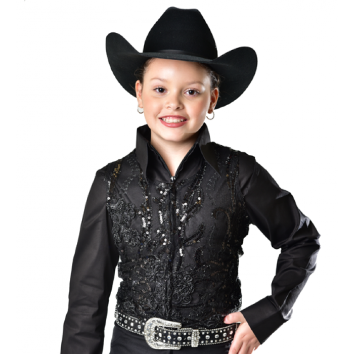 Sequin Show Vest - Youth - Copper Bit Boutique