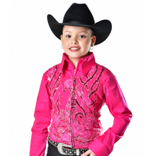 Load image into Gallery viewer, Sequin Show Vest - Youth - Copper Bit Boutique