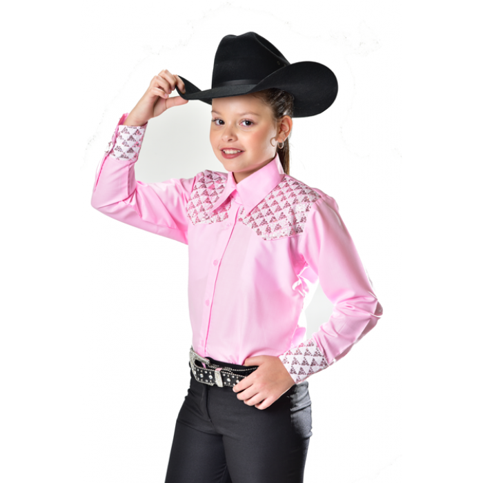 Royal Highness Sequence Yoke Show Shirt - Copper Bit Boutique