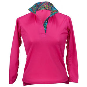 Royal Highness Equestrian Pull-Over Ice-Filled Sun Shirt - Copper Bit Boutique
