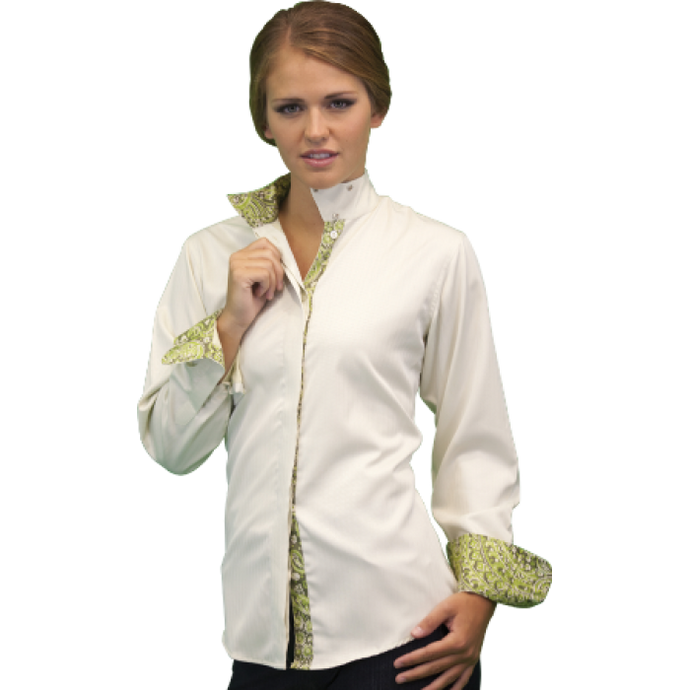 Royal Highness Warrenton Wrap Collar Shirt - Copper Bit Boutique
