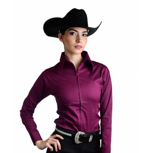 Royal Highness Zip Up Fitted Show Shirt - Copper Bit Boutique