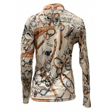 Load image into Gallery viewer, Royal Highness Easy Care Ivory W/ Lace Sun Shirt - Copper Bit Boutique