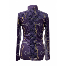Load image into Gallery viewer, Royal Highness Easy Care Purple Bits w/ Lace Sun Shirt - Copper Bit Boutique