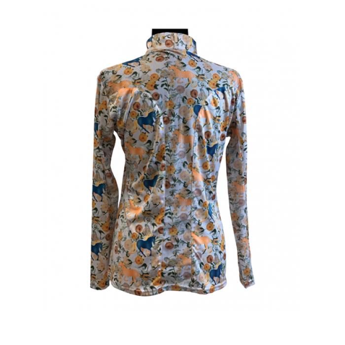 Galloping Horses Easy-Care Sunshirt - Copper Bit Boutique