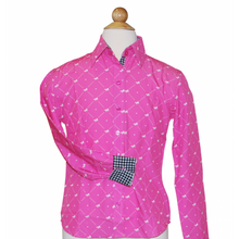 "Load image into Gallery viewer, Royal Highness Youth Easy Care ""Horse with Heart"" Show Shirt - Copper Bit Boutique"
