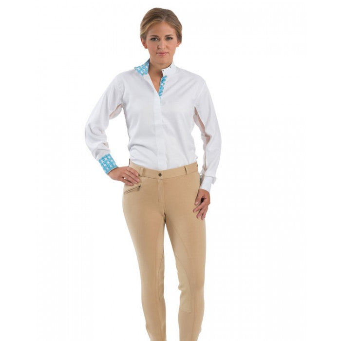 Royal Highness Euro Seat Knee Patch Cotton Low Rise Breech - Copper Bit Boutique