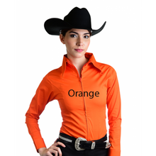 Load image into Gallery viewer, Royal Highness Zip Up Fitted Show Shirt - Copper Bit Boutique