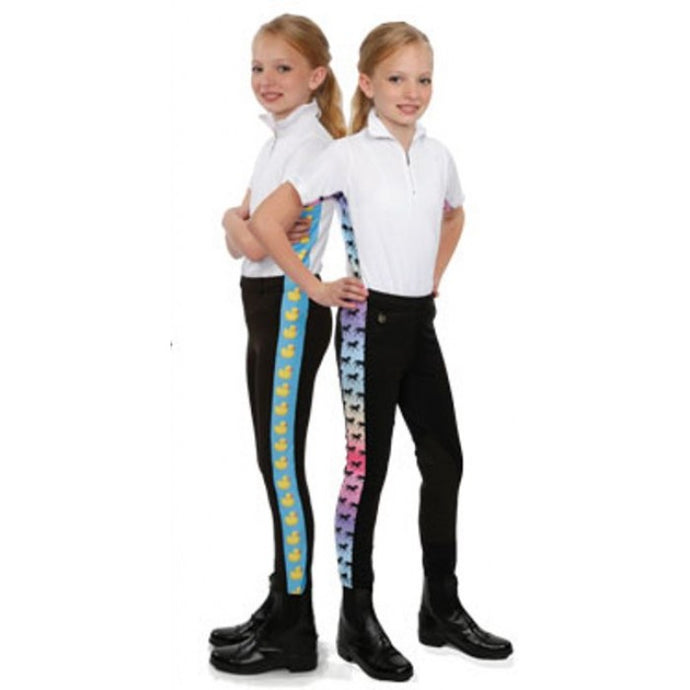Royal Highness Youth Riding Tights with Trims - Copper Bit Boutique