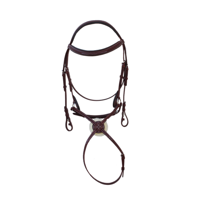 Royal Highness Figure 8 Bridle - Copper Bit Boutique