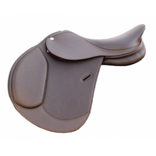 Load image into Gallery viewer, Royal Highness Equestrian Arora Double Leather Jumping Saddle - RS1610 - Copper Bit Boutique
